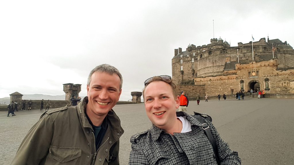 Adam Leyton and Chris Fletcher at Edinburgh Castle